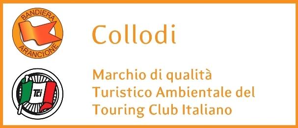 logo bandiere arancioni e logo touring club