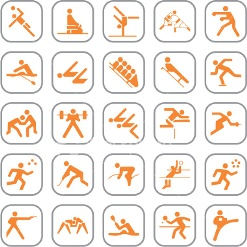 simboli delle varie discipline sportive