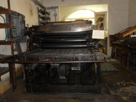 antica macchina tipografica