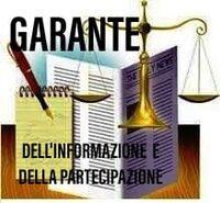 immagine garante informazione e partecipazione