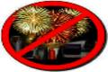 cartello divieto fuochi artificio